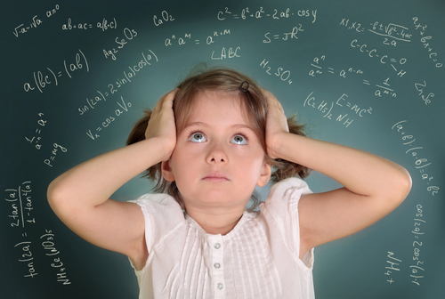 Girl suffering learning difficulties