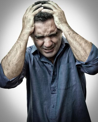 Man suffering PTSD symptoms